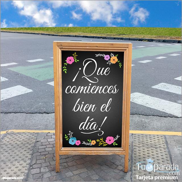 Tarjeta - Tarjeta de saludos en cartel