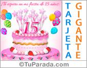 Invitación de 15 años con torta