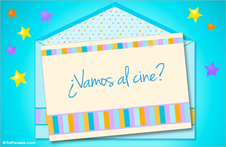 Vamos Al Cine Invitaciones A Salir Tarjetas