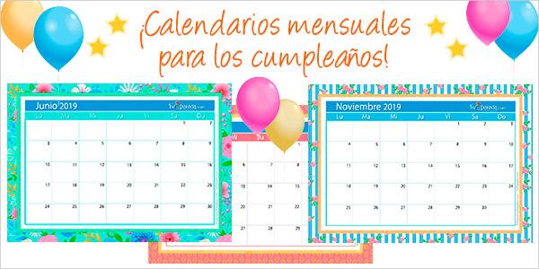 Calendarios para cumpleaños