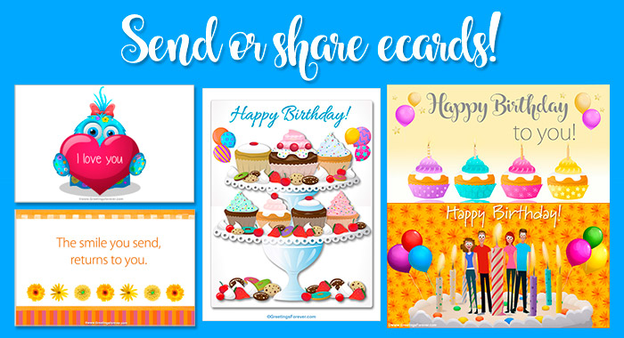 Birthday ecards!