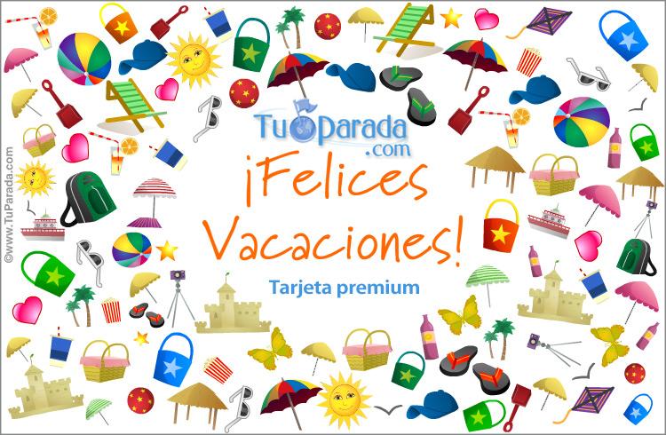 Tarjeta de deseos de felices vacaciones Vacaciones tarjetas