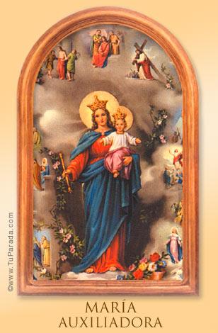 Tarjeta - María Auxiliadora.
