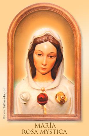 Tarjeta - María Rosa Mystica