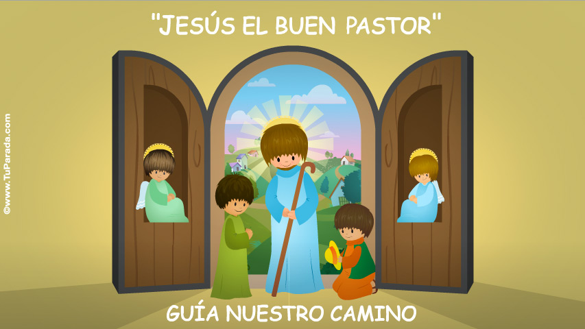 Tarjeta - Jesús el buen pastor