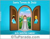 Tarjeta de Virgen y Santos