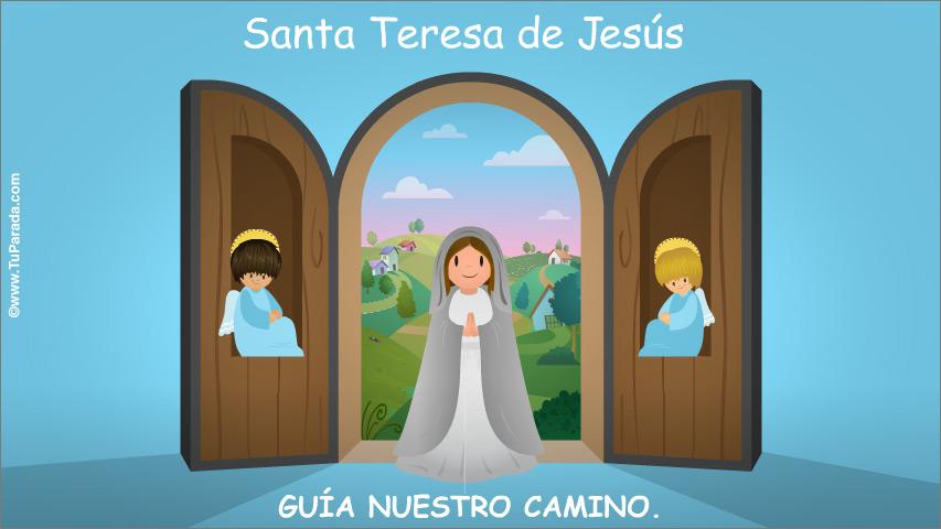 Tarjeta - Santa Teresa de Jesús