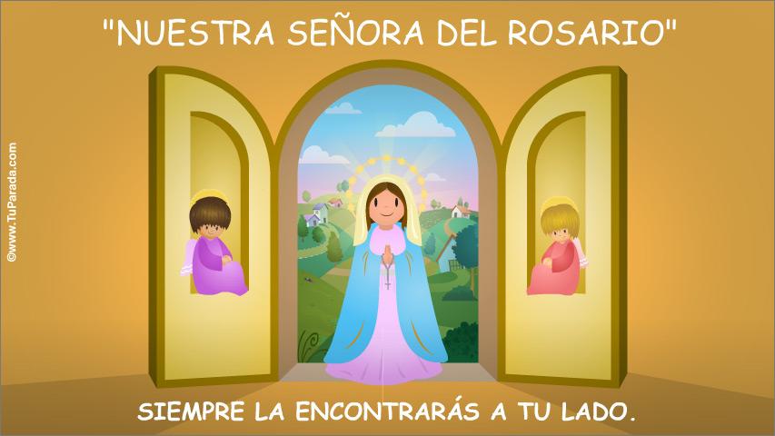 Tarjeta - Nuestra Señora del Rosario