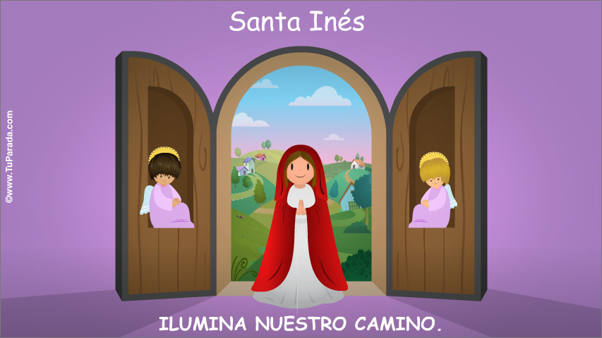 Tarjeta - Santa Inés