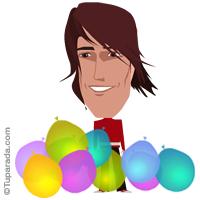Imagen varón con globos