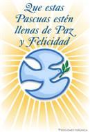 Tarjeta de paz para Pascuas
