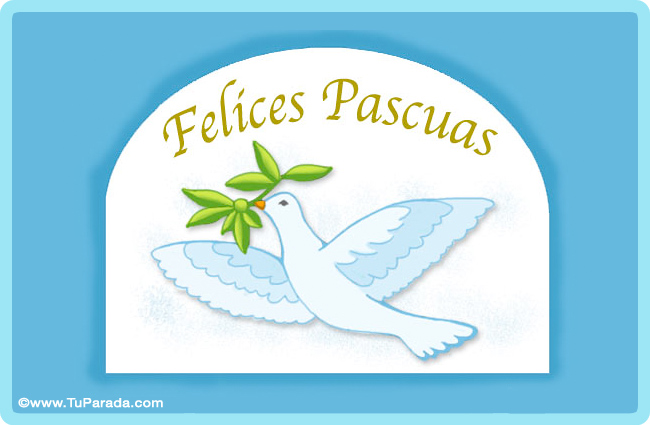 Tarjeta - Paloma de pascua