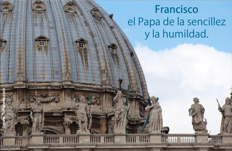 Tarjeta - Francisco, el Papa de la humildad