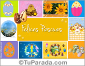 Tarjeta de Felices Pascuas