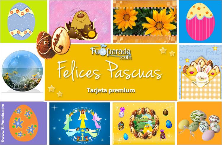 Tarjeta - Tarjeta de Felices Pascuas