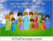 Tarjeta de Jesús para Pascua