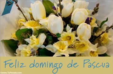 Tarjeta con ramo para Pascua