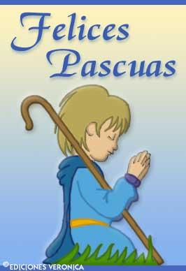 Tarjeta - Felices Pascuas con pastor