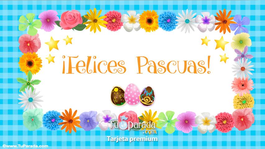 Tarjeta - Tarjeta de feliz Pascua con guarda