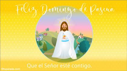 Tarjeta de Pascua con Jesús