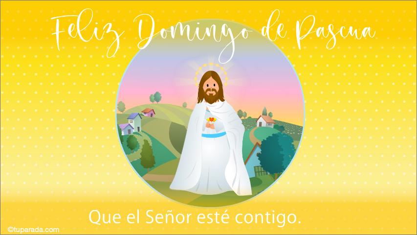 Tarjeta - Tarjeta de Pascua con Jesús
