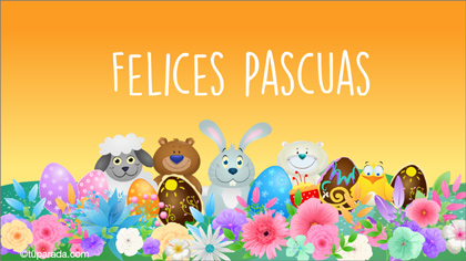 Tarjetas, postales: Pascua