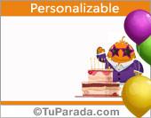 Imagen de tarjeta para cumpleaños, fiesta de cumpleaños, invitación.