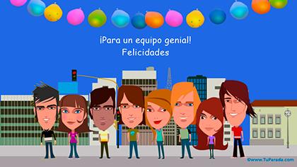 Imagen de tarjeta de cumpleaños para amigos y amigas.