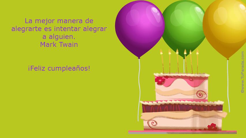 Feliz Cumpleaños Frases Célebres Tarjetas