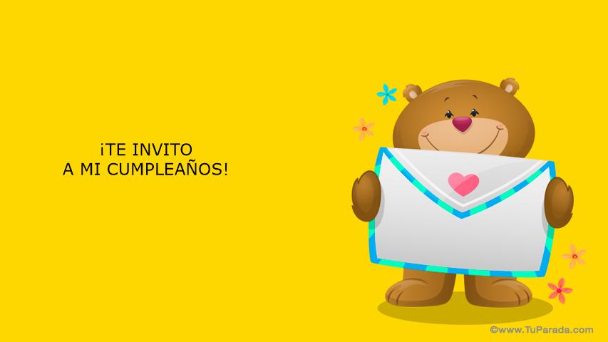 Invitación De Cumpleaños Invitaciones Tarjetas