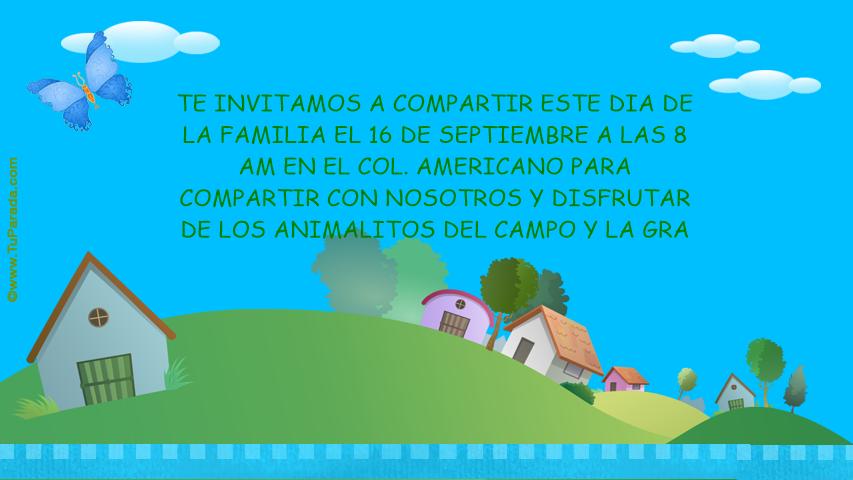 Invitación Dia De La Familia Invitaciones Tarjetas