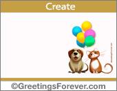 Create Hi, Hello ecard