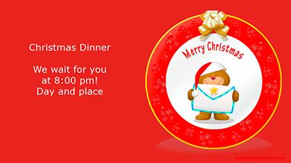 Create Christmas ecard