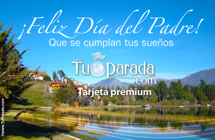 Tarjeta - Tarjeta día del padre con paisaje