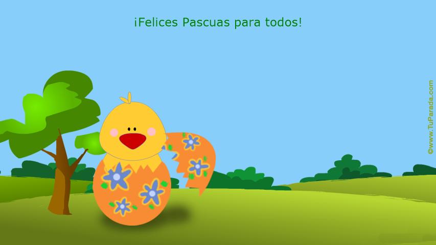 Tarjeta - Felices Pascuas