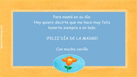 Tarjeta de Día de la madre