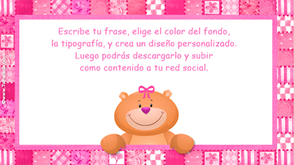 Imagen de osito en rosa