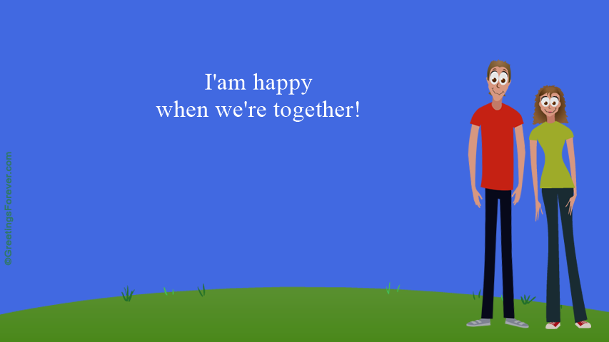 Ecard - I'am happy when...