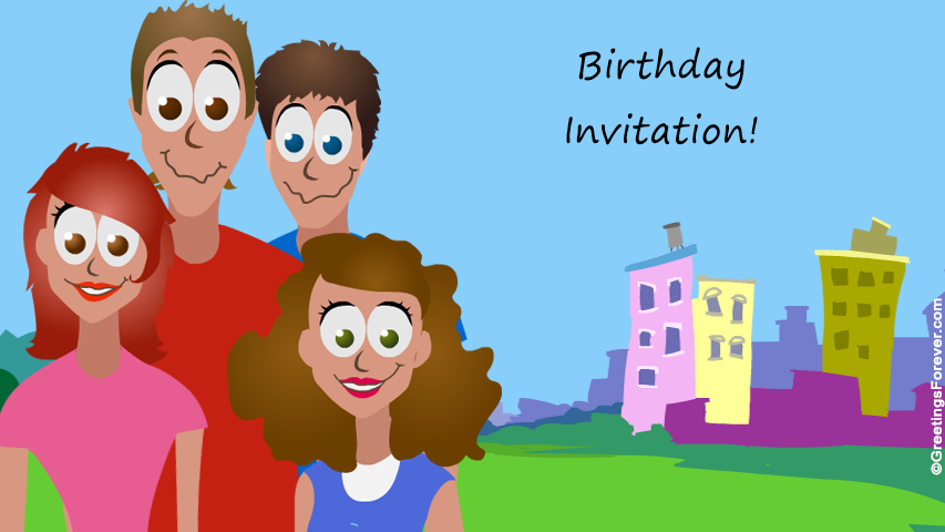 Ecard - Birthday invitation
