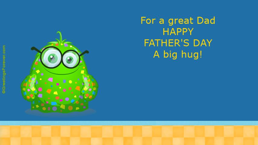 Ecard - A big hug for Dad