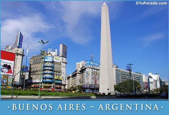 Tarjeta - Foto del Obelisco, Buenos Aires - Argentina