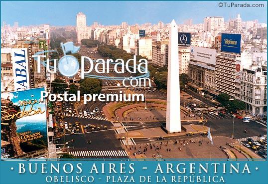 Tarjeta - Obelisco - Plaza de la República
