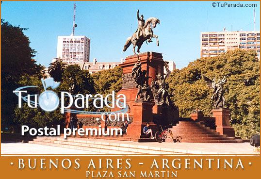 Tarjeta - Plaza San Martín