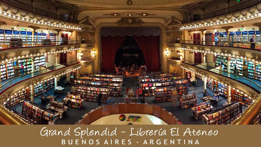 Tarjeta - Grand Splendid - Librería El Ateneo