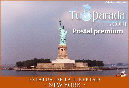 Tarjeta - Foto de la Estatua de la Libertad - New York