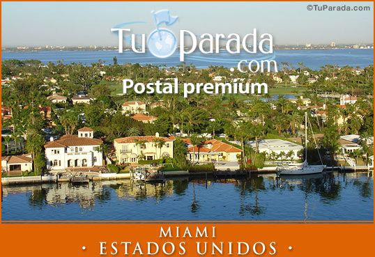 Tarjeta - Foto de Miami - Estados Unidos