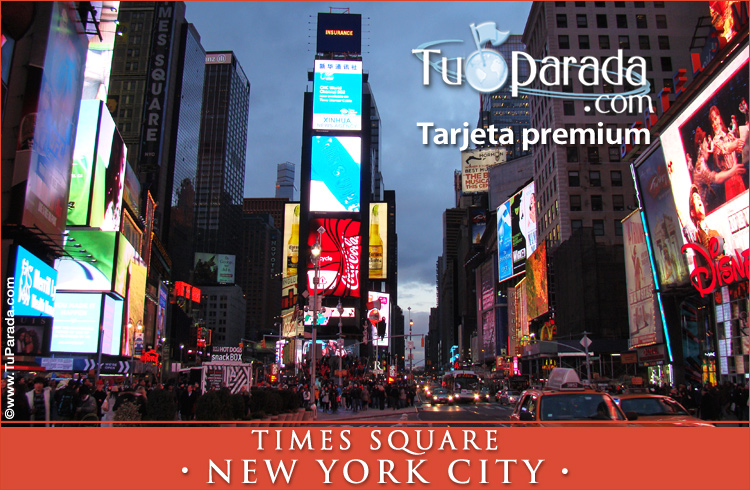 Tarjeta - Foto de Times Square - New York City