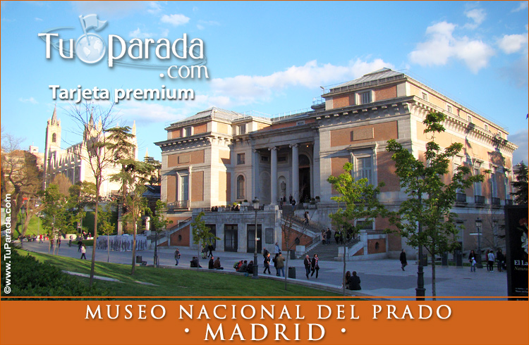 Tarjeta - Foto del Museo del Prado - Madrid