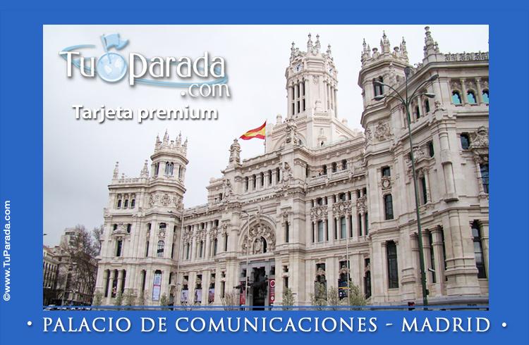 Tarjeta - Palacio de Comunicaciones - Madrid