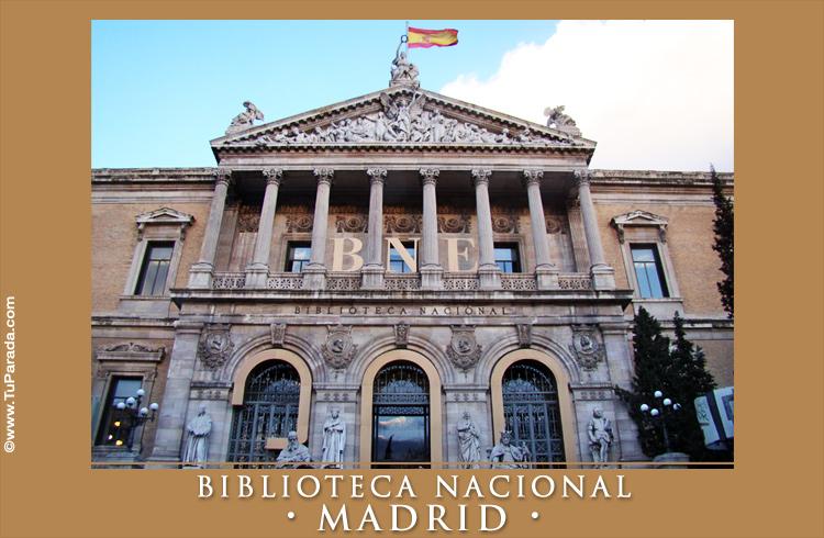 Tarjeta - Foto de la Biblioteca Nacional de Madrid